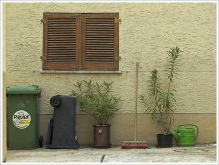 Mülleimer ohne Fahrrad