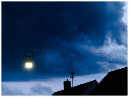Wolken mit Lampe