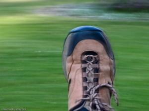 Mitziehen mit dem eigenen Fuß