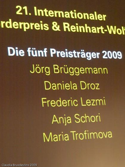 Preisträger des BFF 2009