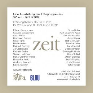 Ausstellungflyer Fotogruppe Blau (Zeit): S. 2