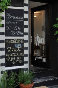 Vernissage der Fotogruppe Blau: Eingang