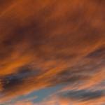 Abendhimmel über Vaihingen: Engelshaar ohne Bahnhofslampe