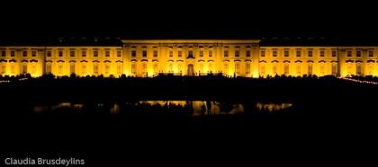 Residenzschloß Ludwigsburg bei Nacht