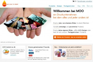 Screenshot der Moo Website